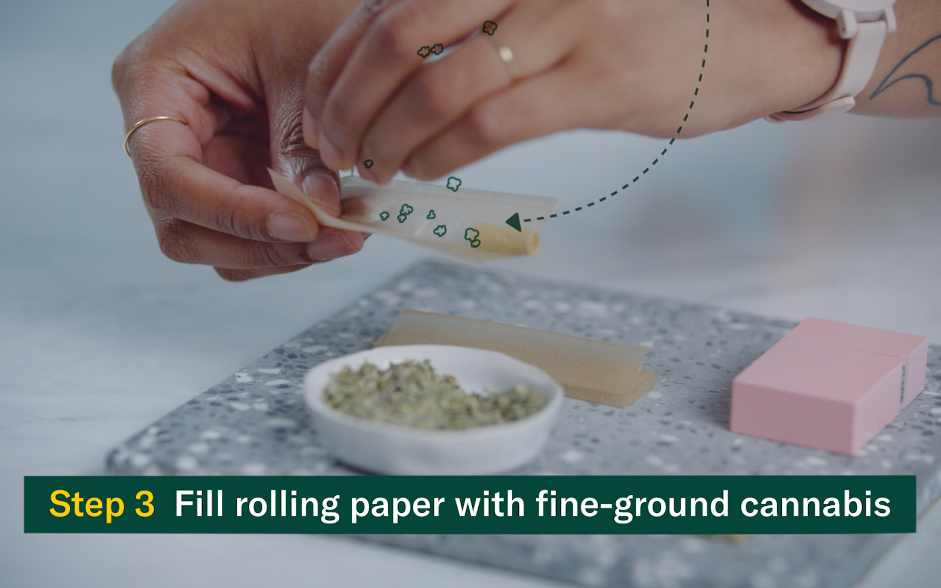 Rolling a small joint