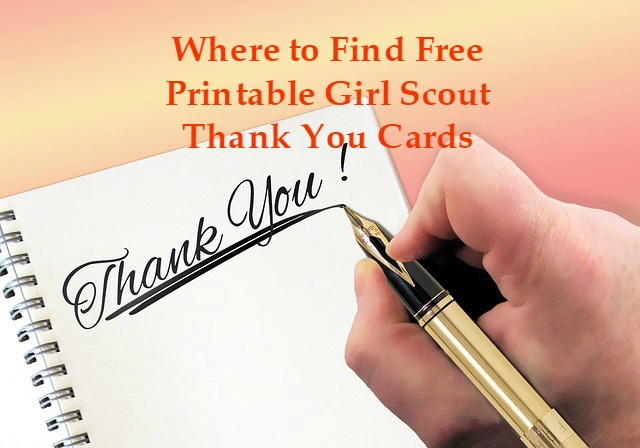 Girl scout cookie thank you cards